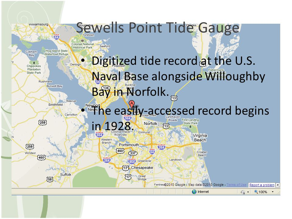 Sewells Point Tide Gauge