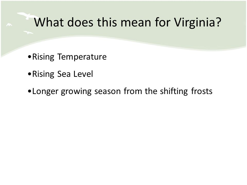 What does this mean for Virginia