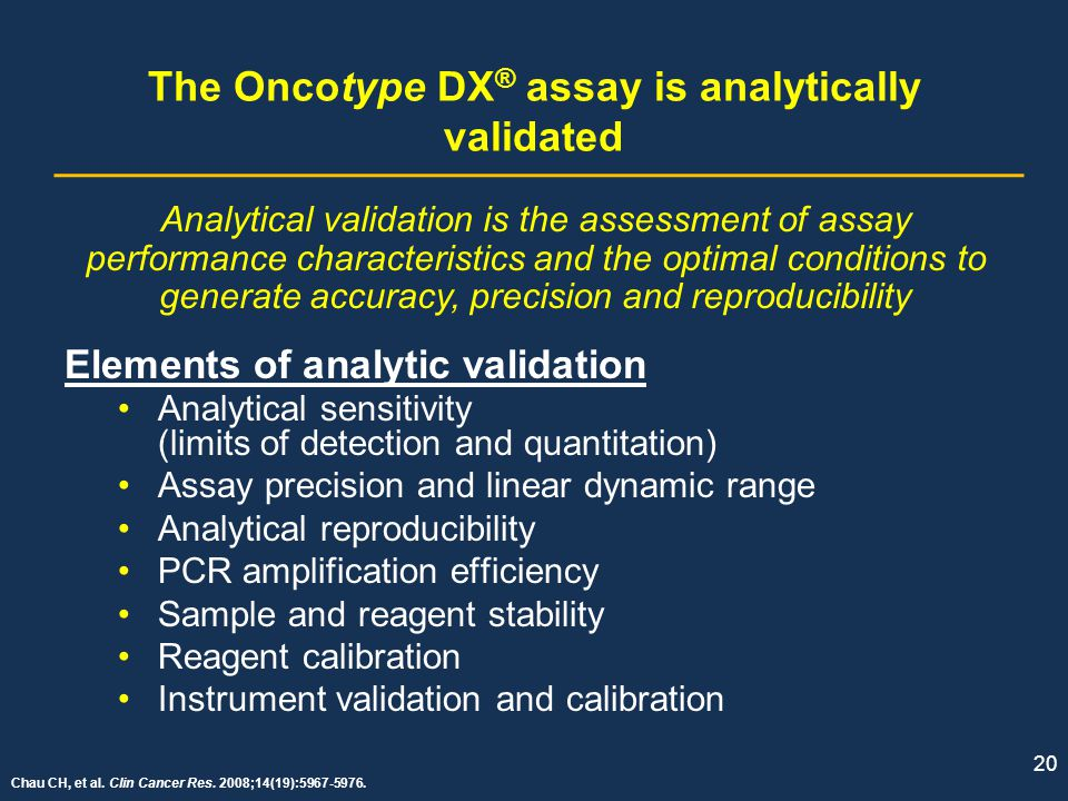 The Oncotype DX® assay is analytically validated