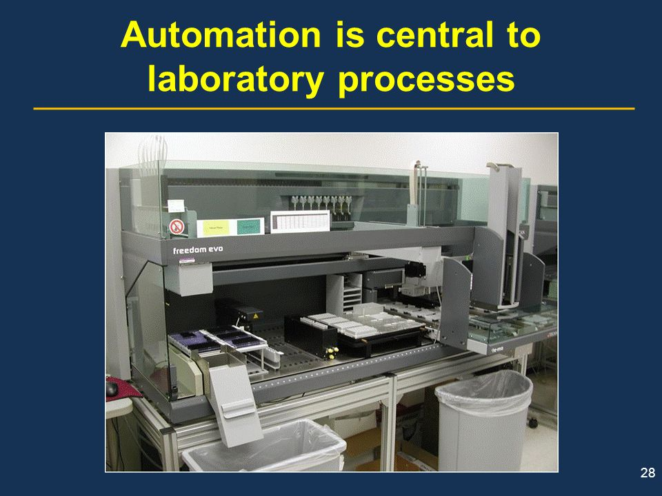 Automation is central to laboratory processes