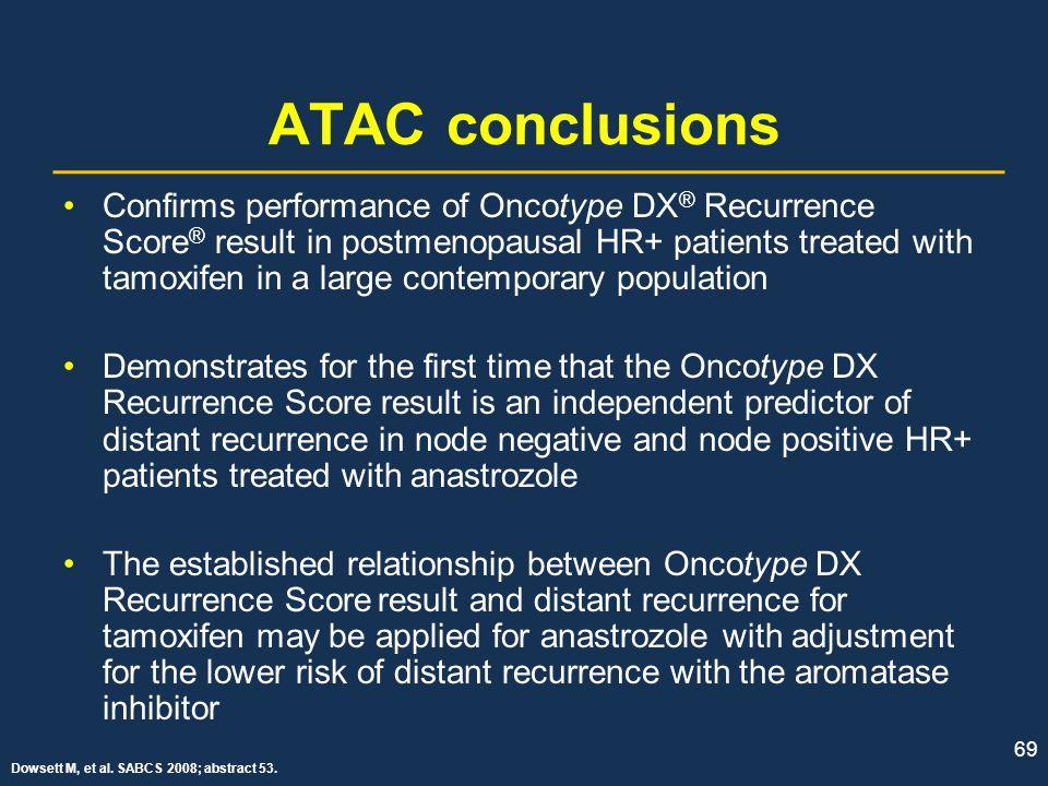 ATAC conclusions