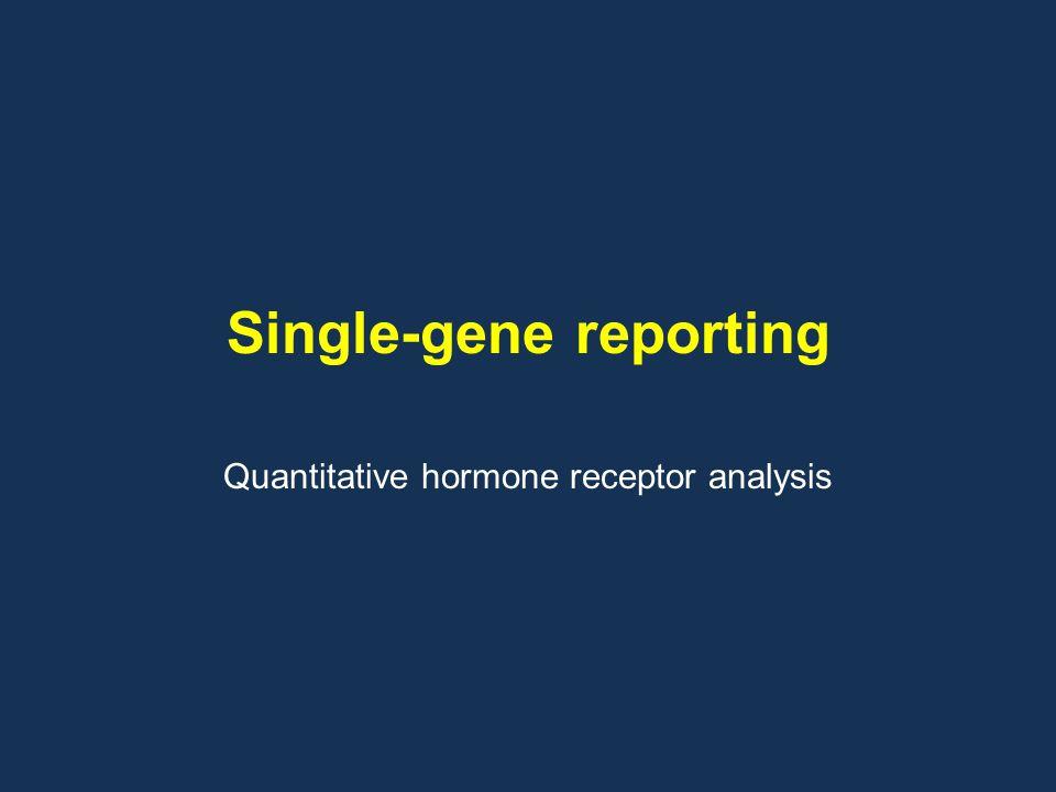 Single-gene reporting