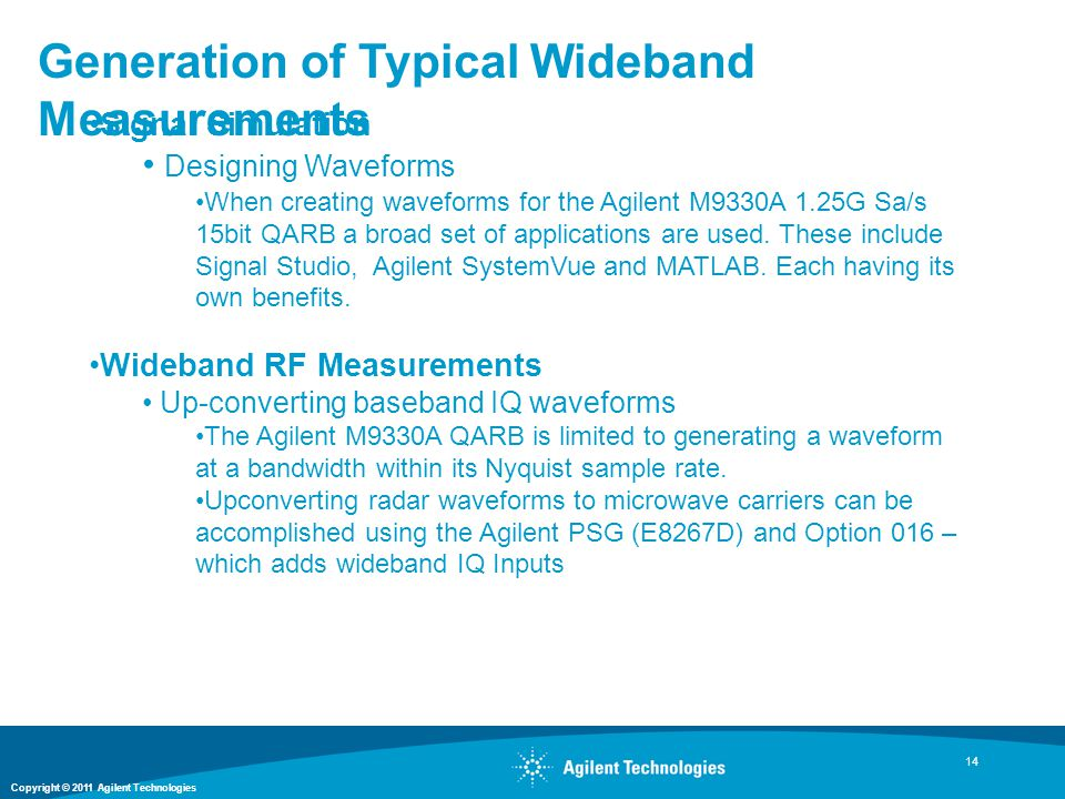 Generation of Typical Wideband Measurements