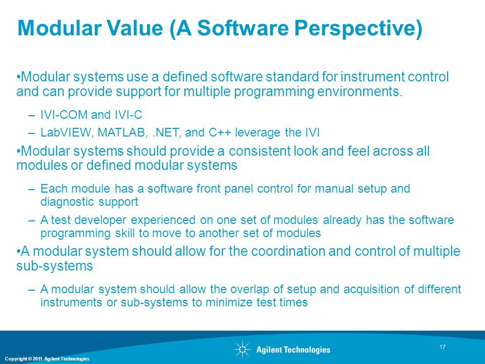 Modular Value (A Software Perspective)