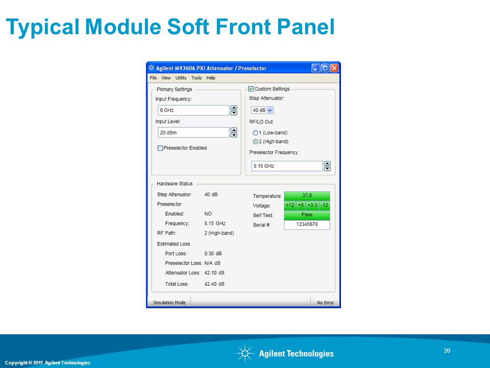 Typical Module Soft Front Panel