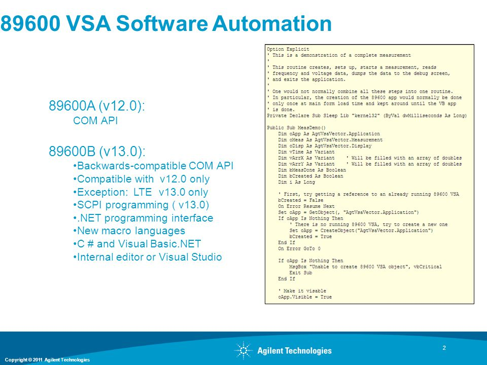 89600 VSA Software Automation