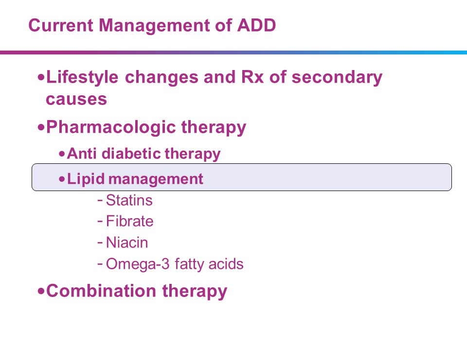 Current Management of ADD