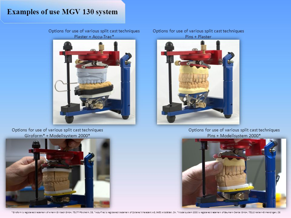 Examples of use MGV 130 system