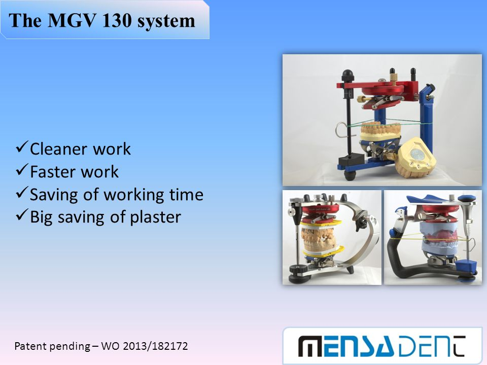 The MGV 130 system Cleaner work Faster work Saving of working time
