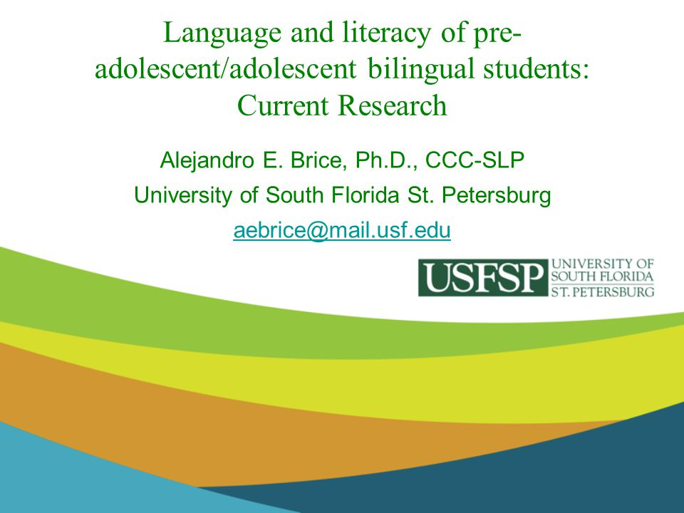 Language and literacy of pre-adolescent/adolescent bilingual students: Current Research