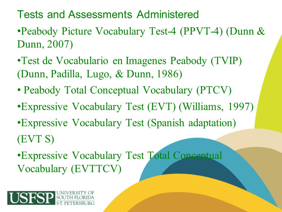 Tests and Assessments Administered