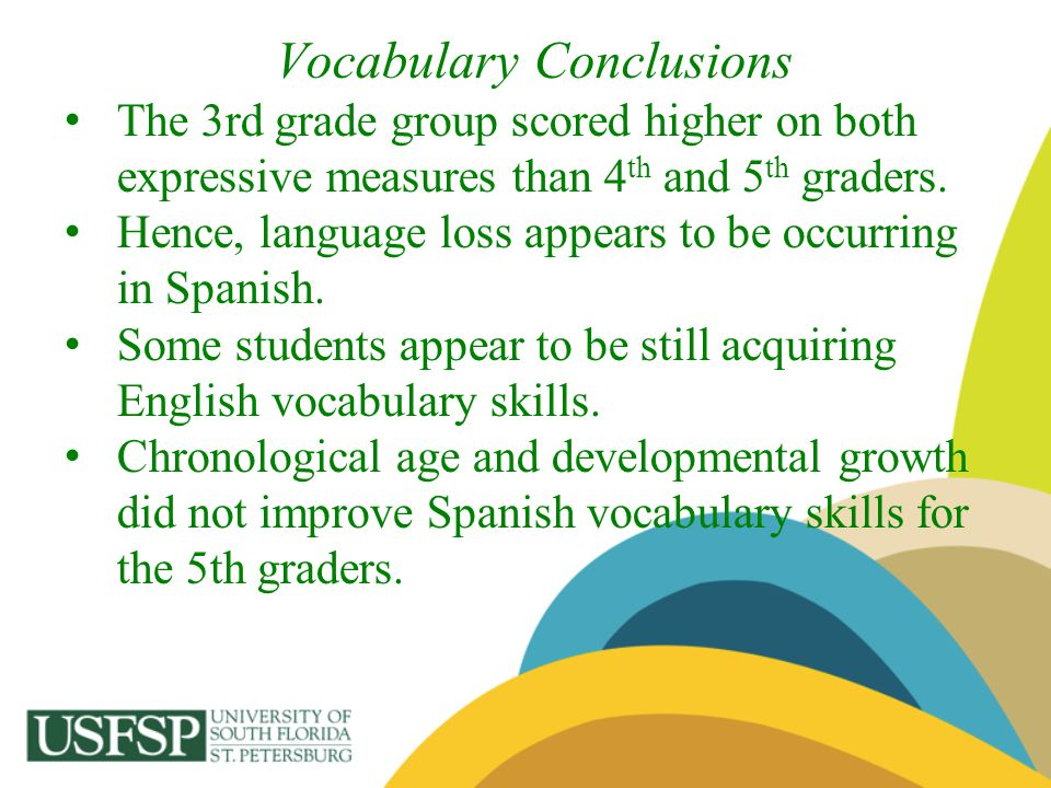 Vocabulary Conclusions