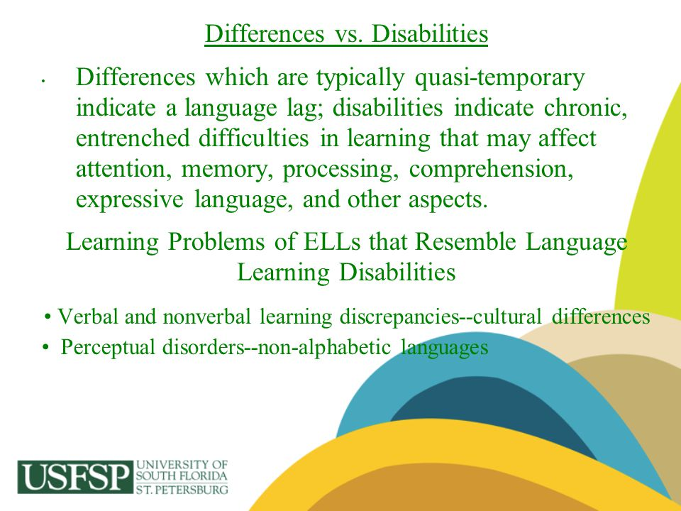 Differences vs. Disabilities