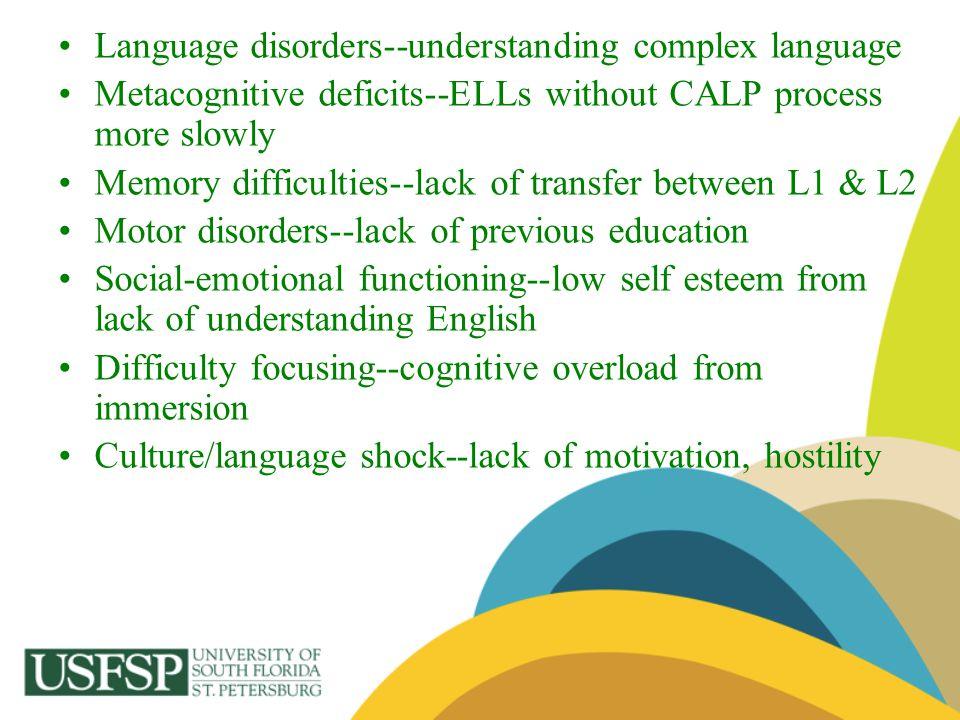 Language disorders--understanding complex language