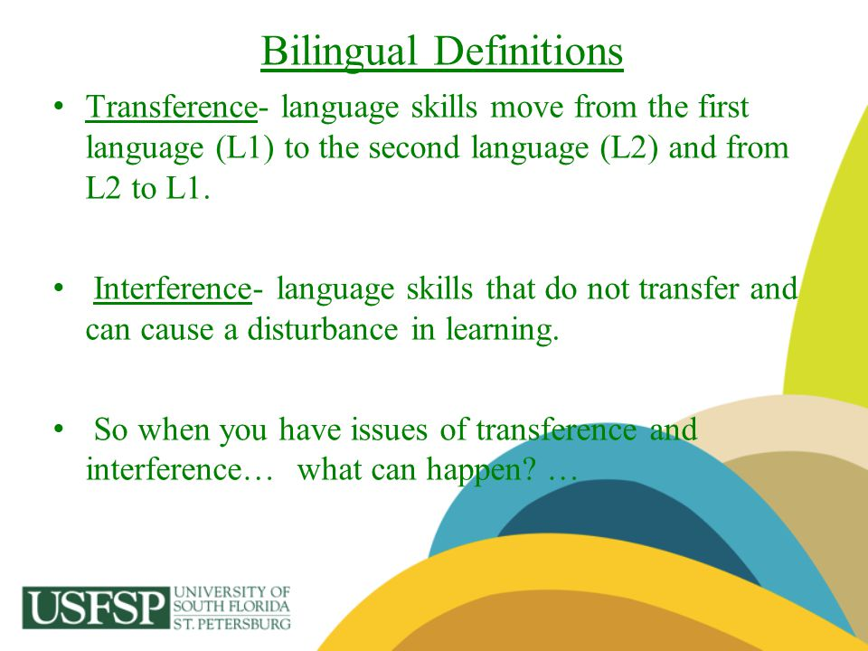 Bilingual Definitions