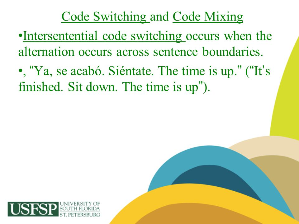 Code Switching and Code Mixing