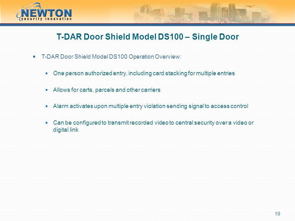 T-DAR Door Shield Model DS100 – Single Door