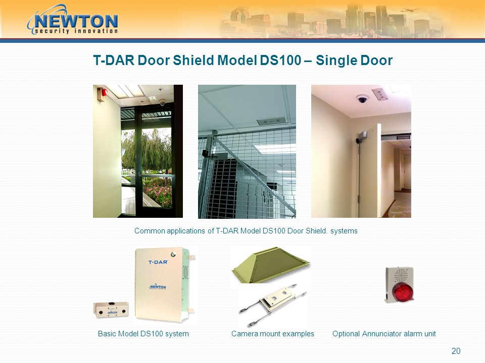 T-DAR Door Shield Model DS100 – Single Door