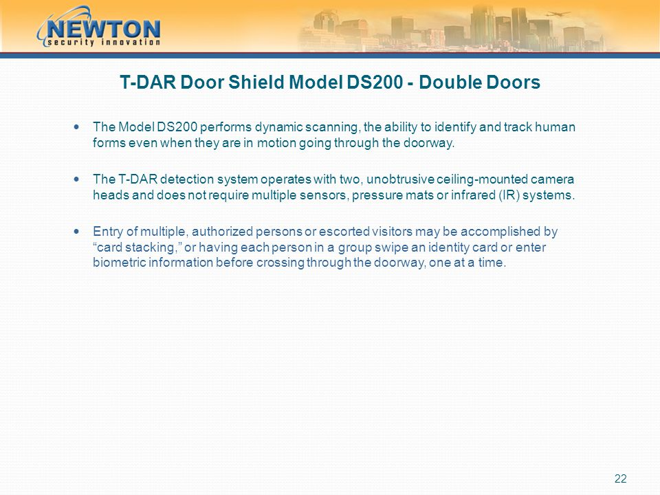 T-DAR Door Shield Model DS200 - Double Doors