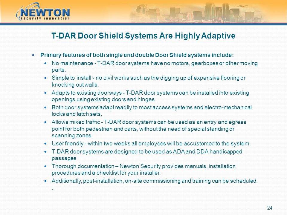 T-DAR Door Shield Systems Are Highly Adaptive