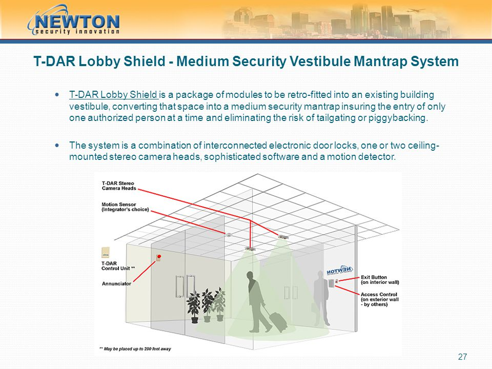 T-DAR Lobby Shield - Medium Security Vestibule Mantrap System