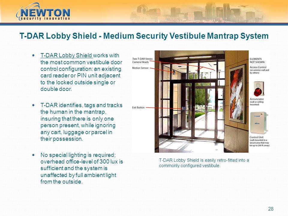T-DAR Lobby Shield - Medium Security Vestibule Mantrap System