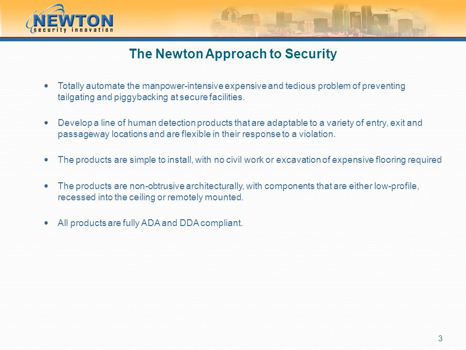 The Newton Approach to Security
