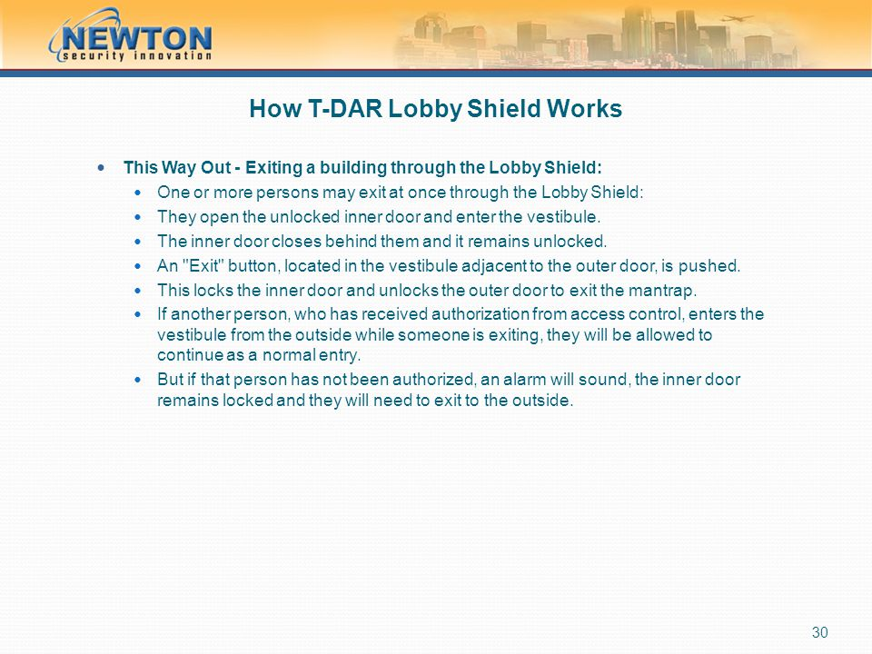 How T-DAR Lobby Shield Works