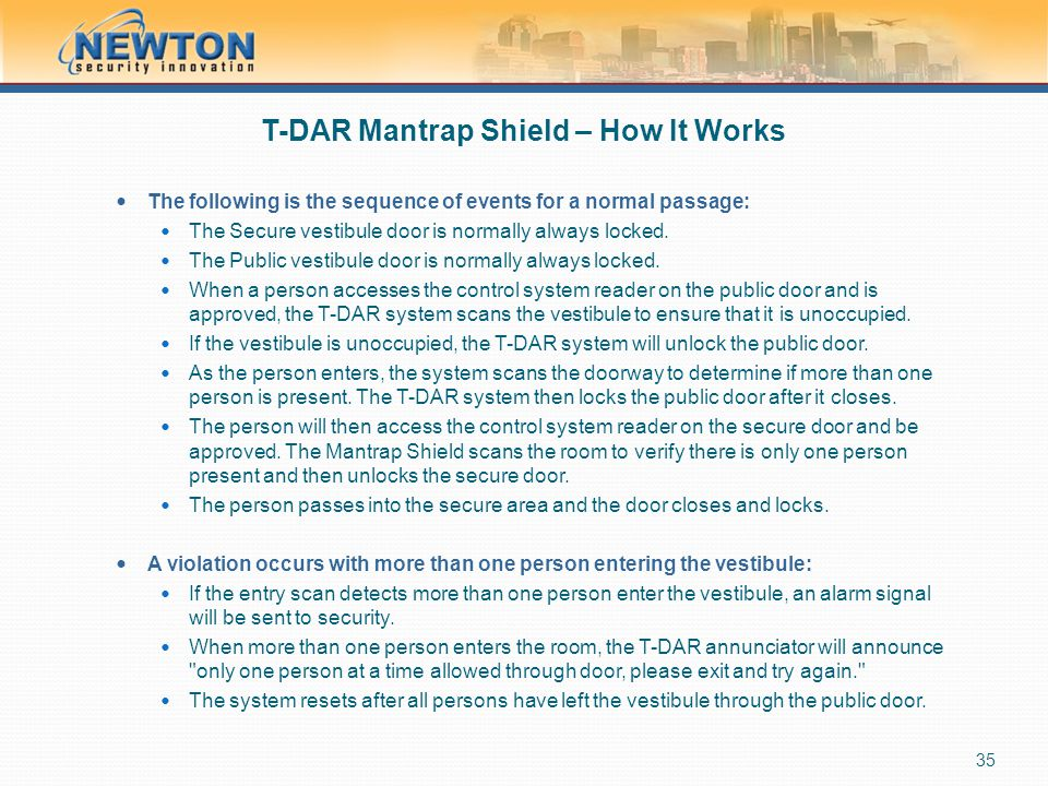 T-DAR Mantrap Shield – How It Works