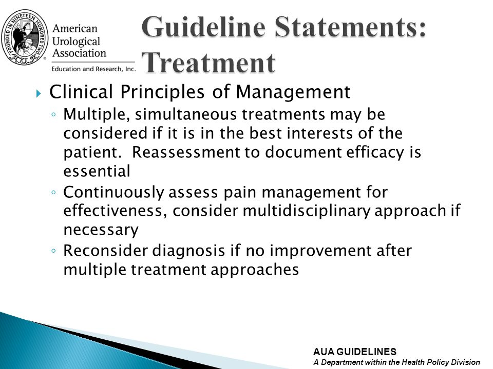 Guideline Statements: Treatment