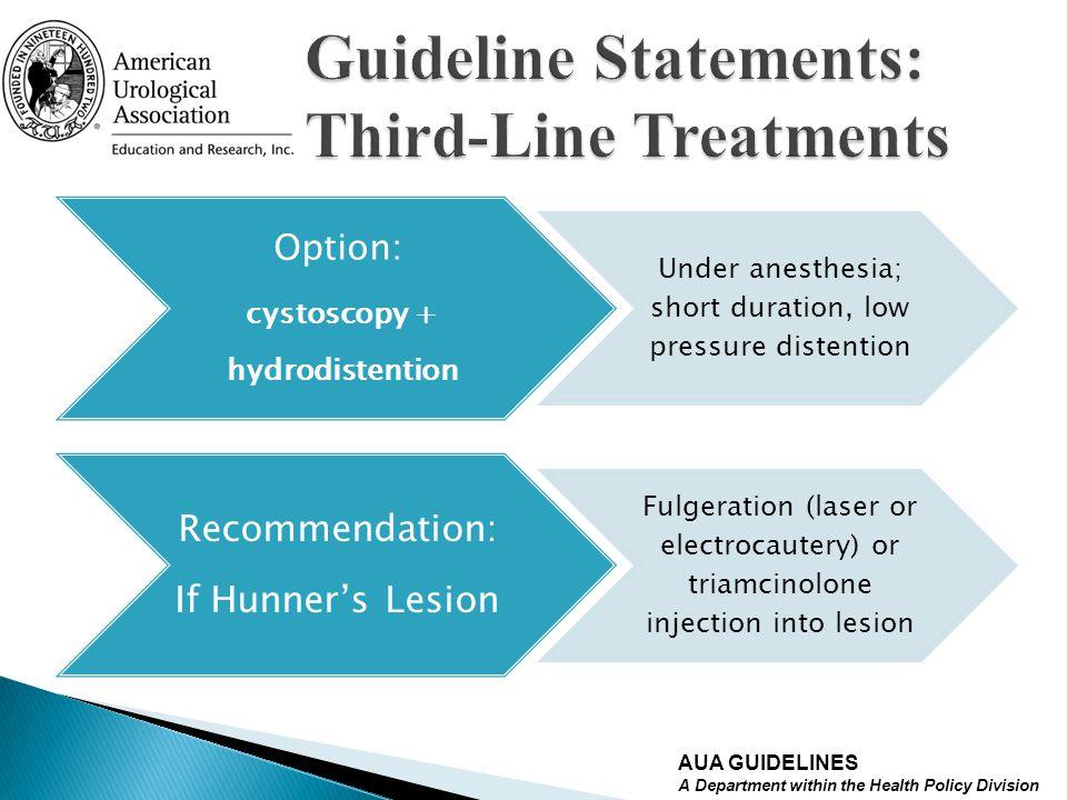 Guideline Statements: Third-Line Treatments