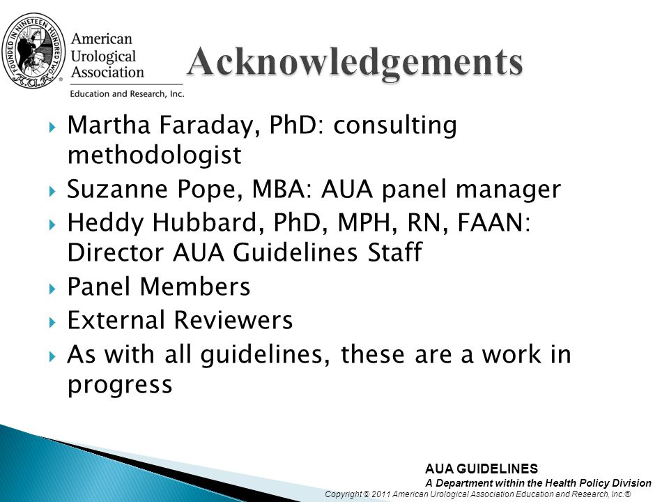 Acknowledgements Martha Faraday, PhD: consulting methodologist