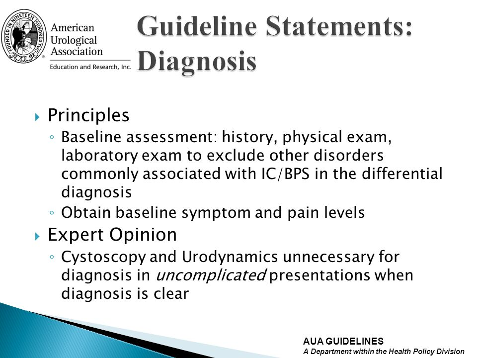 Guideline Statements: Diagnosis