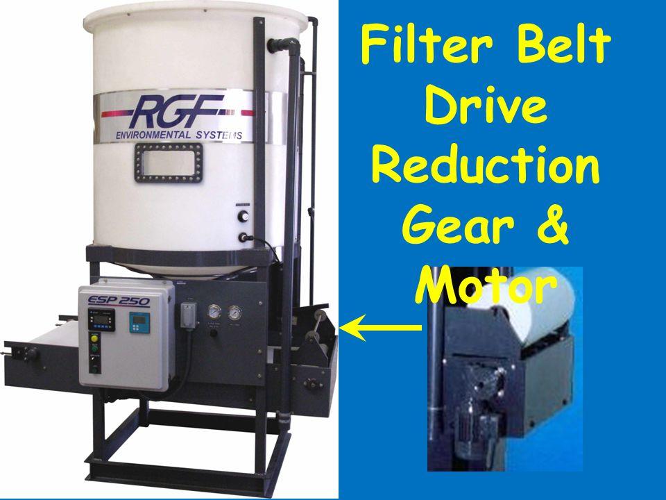 Filter Belt Drive Reduction Gear & Motor