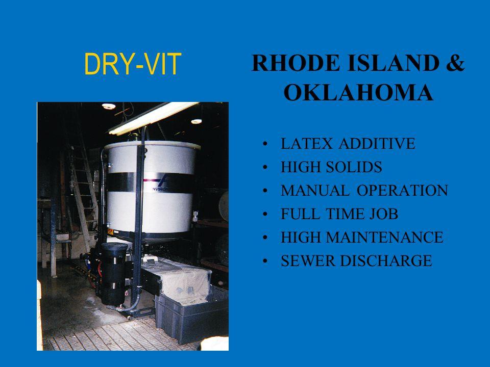 DRY-VIT RHODE ISLAND & OKLAHOMA LATEX ADDITIVE HIGH SOLIDS