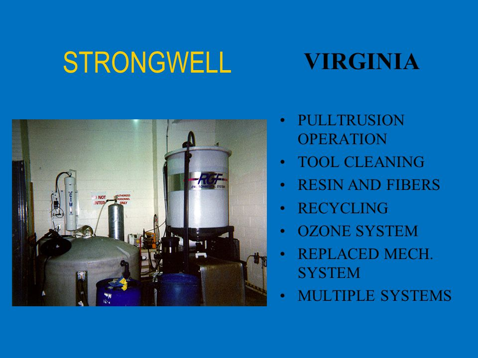 STRONGWELL VIRGINIA PULLTRUSION OPERATION TOOL CLEANING