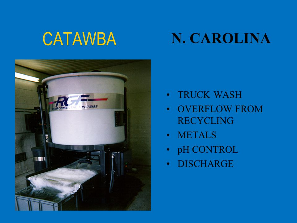 CATAWBA N. CAROLINA TRUCK WASH OVERFLOW FROM RECYCLING METALS