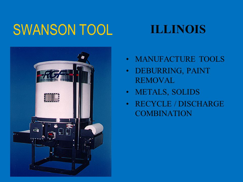 SWANSON TOOL ILLINOIS MANUFACTURE TOOLS DEBURRING, PAINT REMOVAL