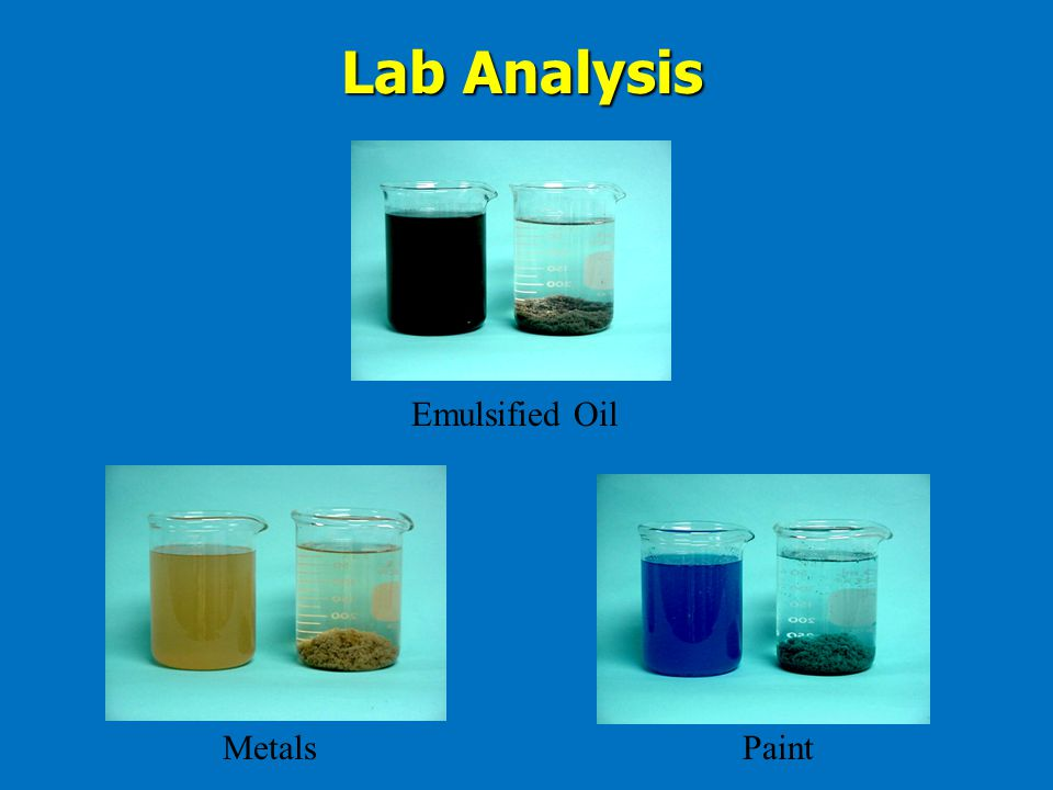 Lab Analysis Emulsified Oil Metals Paint