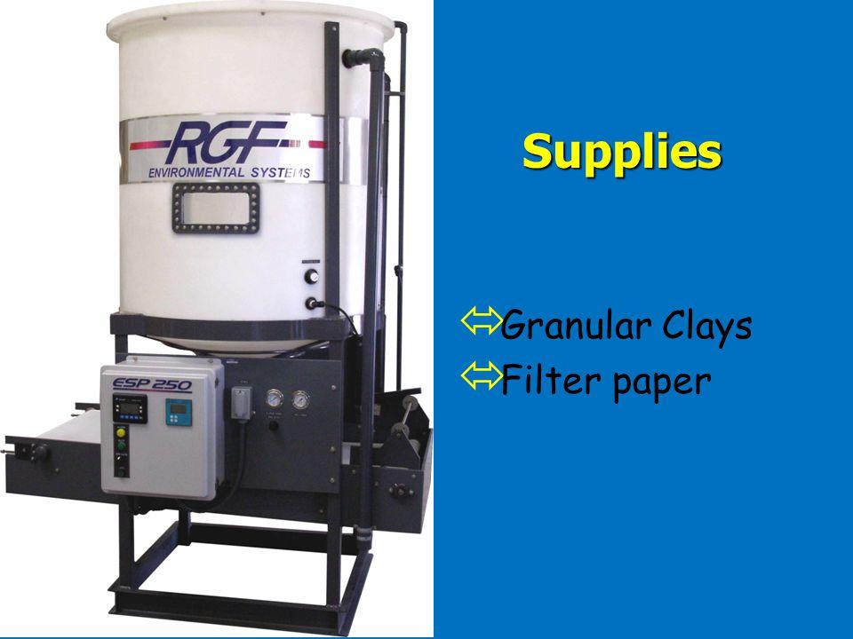 Supplies Granular Clays Filter paper