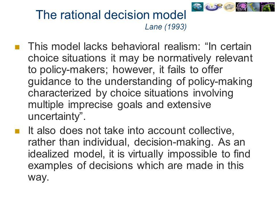 The rational decision model Lane (1993)