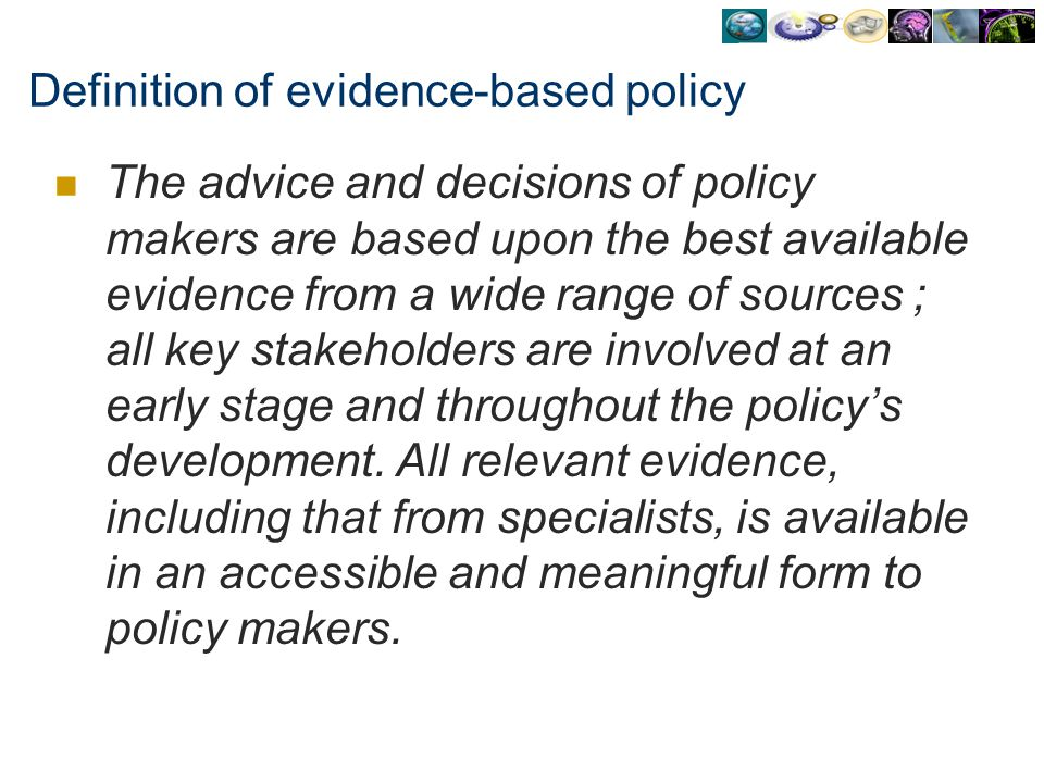 Definition of evidence-based policy