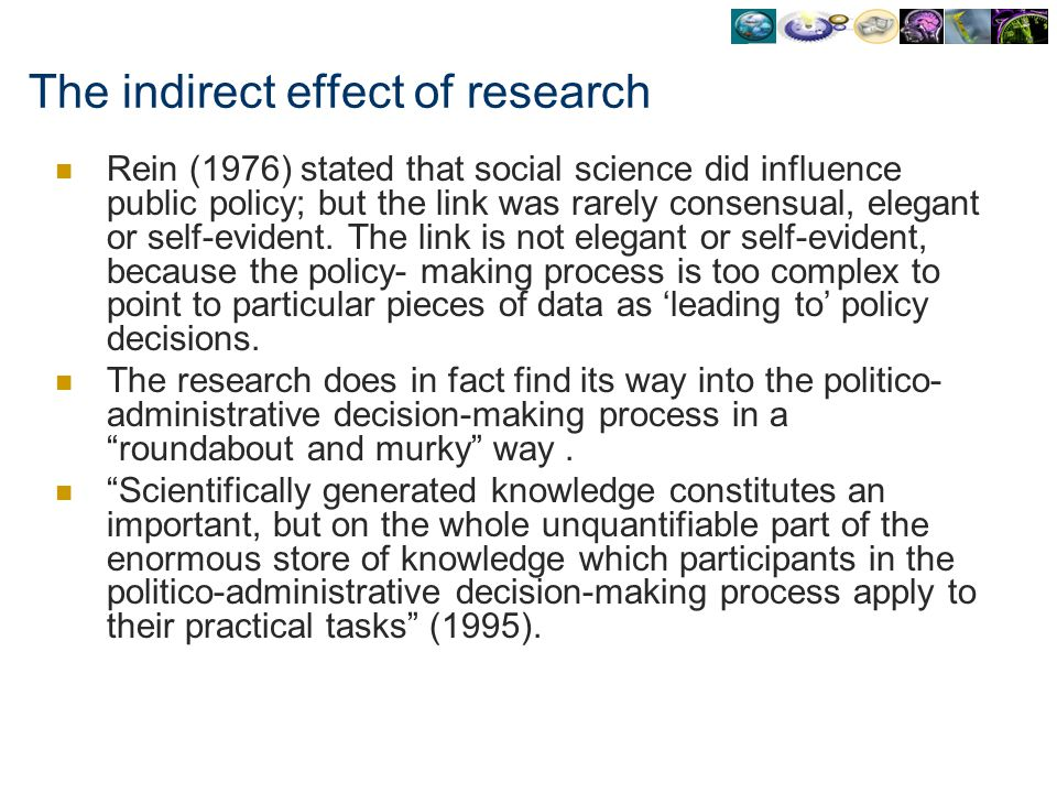 The indirect effect of research