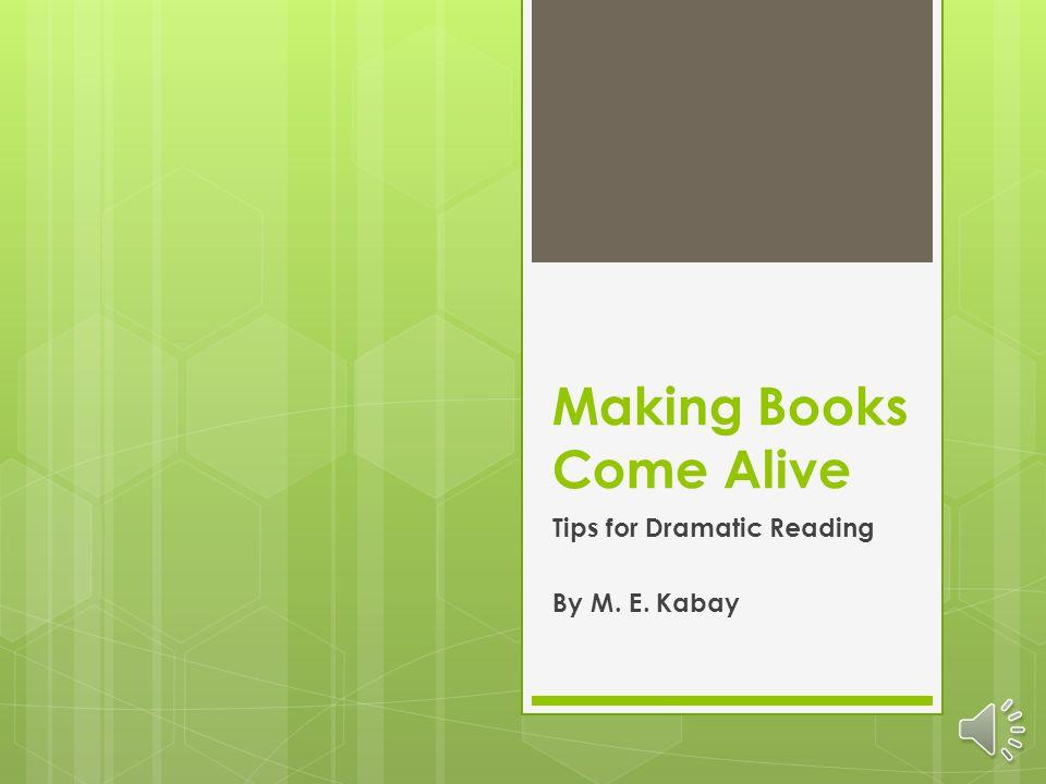 Making Books Come Alive