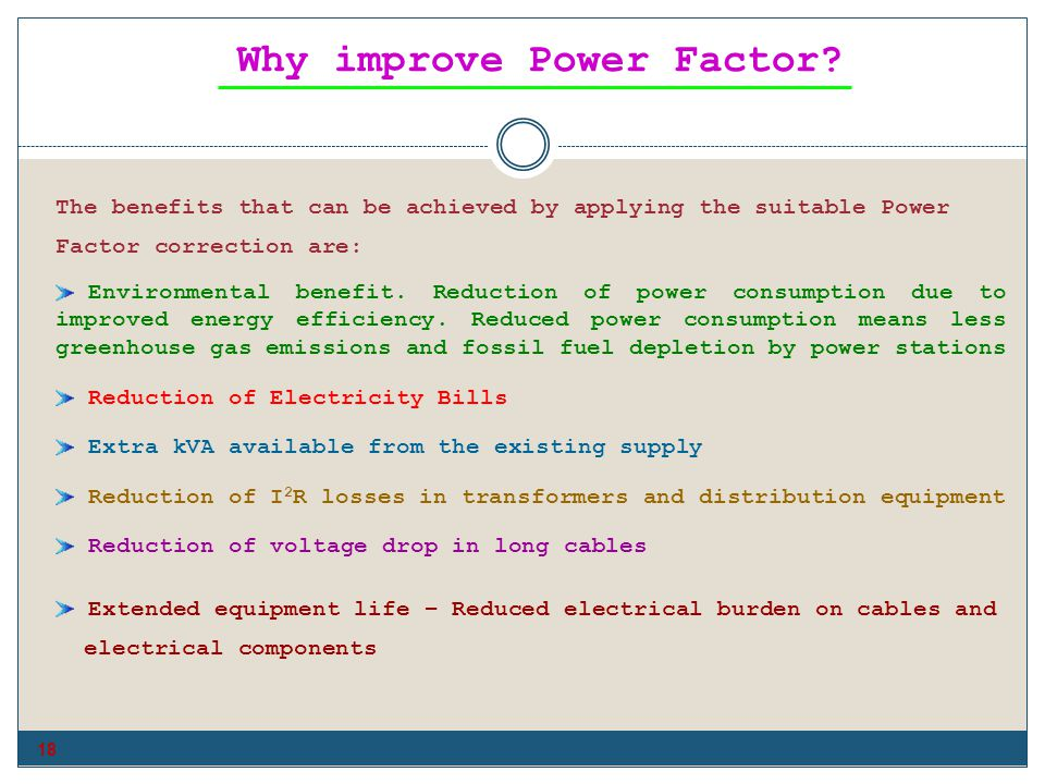Why improve Power Factor
