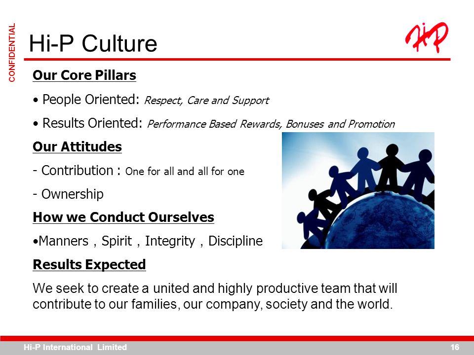 Hi-P Culture Our Core Pillars