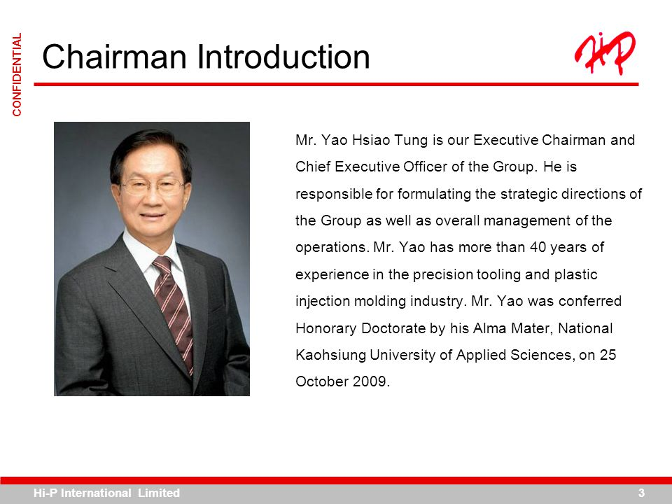 Chairman Introduction