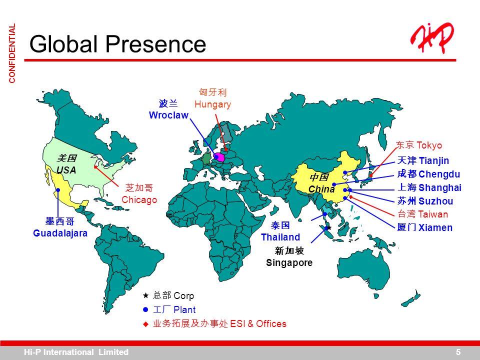 Global Presence 中国 China 美国 USA 总部 Corp 工厂 Plant