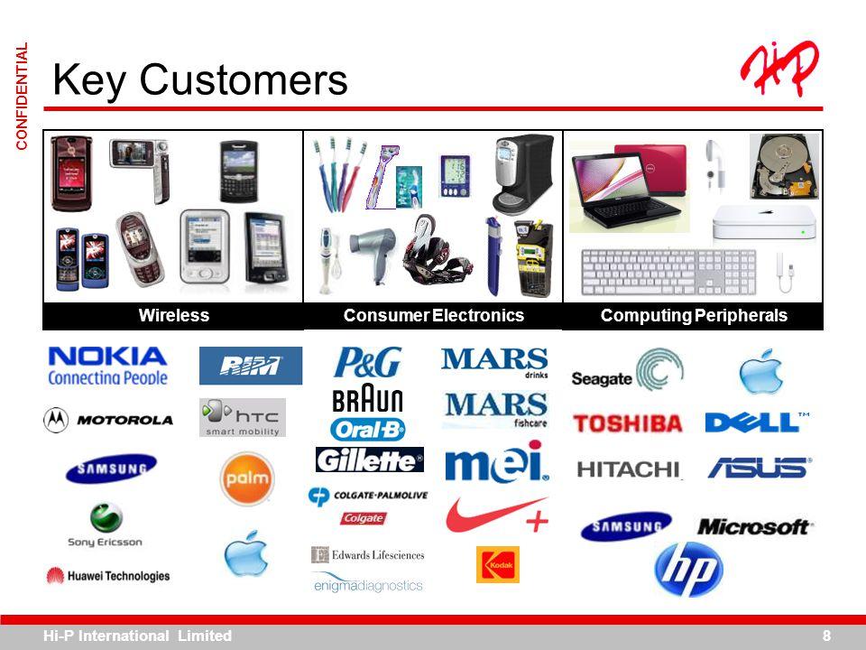 Key Customers Wireless Consumer Electronics Computing Peripherals