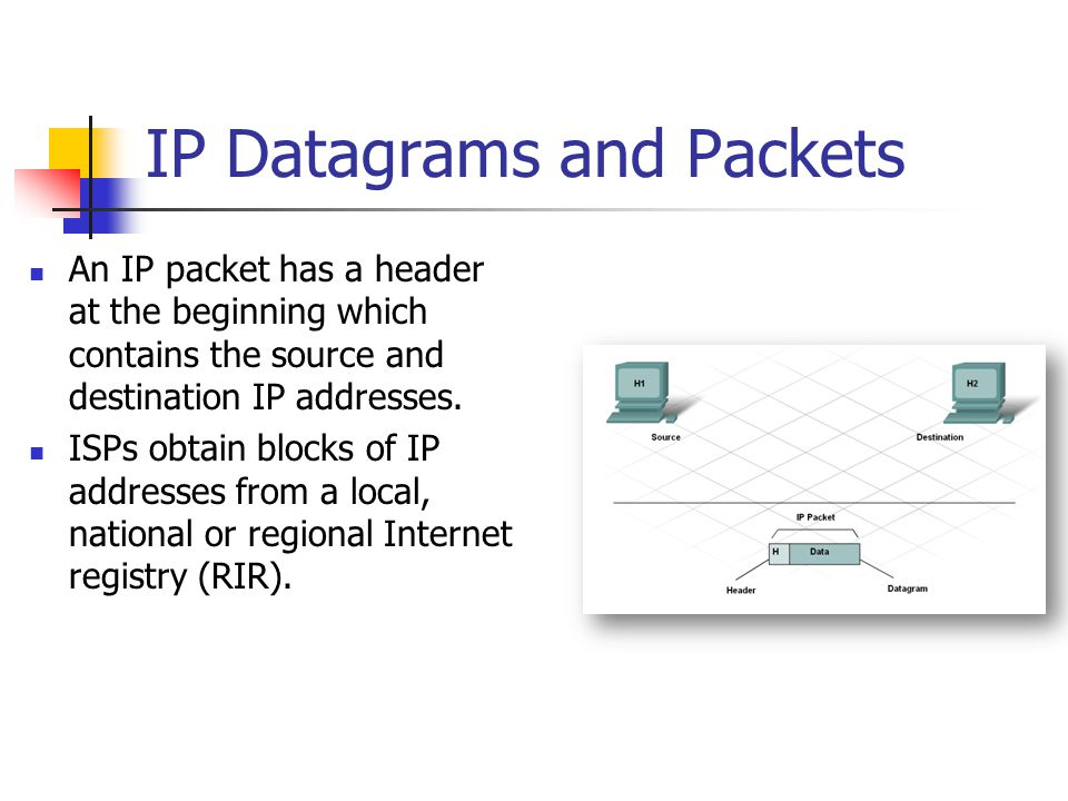 IP Datagrams and Packets